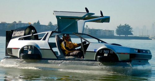 Hovercraft with a Big Time Machine Type Personality