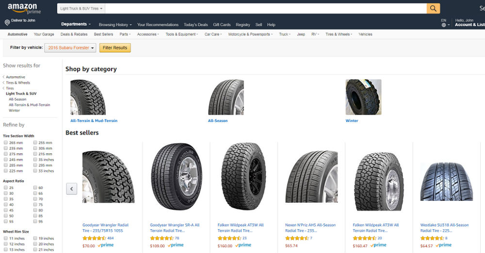 Sears Sells Tires Through Amazon To Save On Overhead